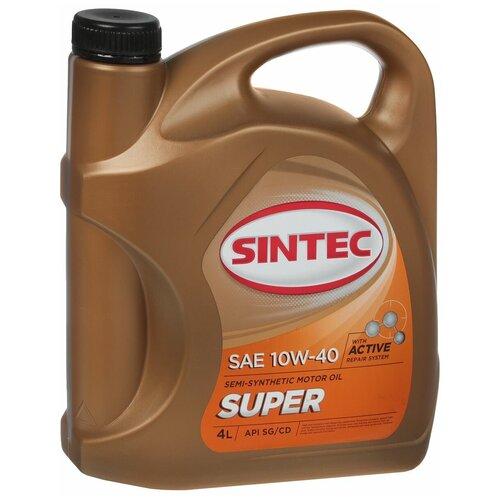Полусинтетическое моторное масло SINTEC Super 10W-40, 4 л