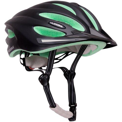 Шлем защитный HUDORA Basalt, р. XS (49 - 52 см), черно-зеленый