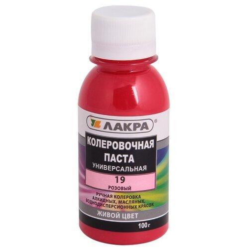 Колеровочная паста Лакра Универсальная 19 розовый 0.1 л