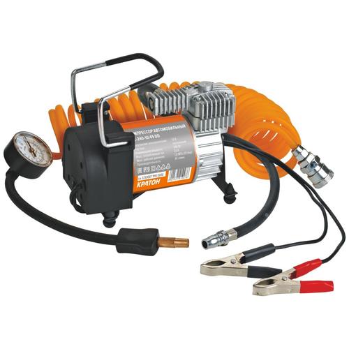 Автомобильный компрессор Кратон AC24010/45DD черный/оранжевый