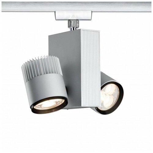 Трековый светильник Paulmann Rail System VariLine Duet, 95084, цвет арматуры: хромовый, цвет плафона: серебристый