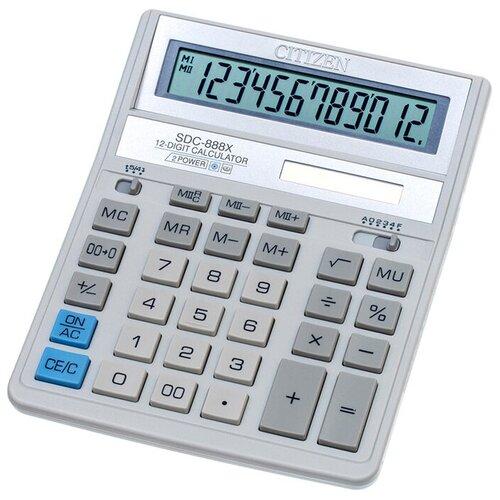 Калькулятор бухгалтерский CITIZEN SDC-888X белый