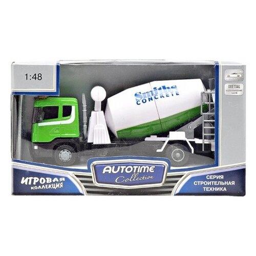 Бетономешалка Autogrand Scania Mixer бетономешалка (10842-00/9824) 1:48, зеленый/белый