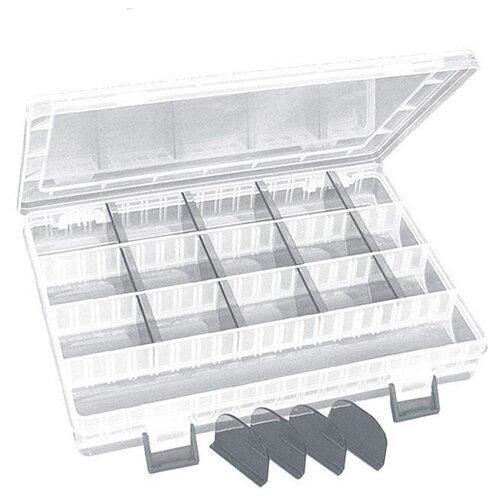 Коробка для приманок для рыбалки MIKADO UABM-314 25х18х4 см прозрачный