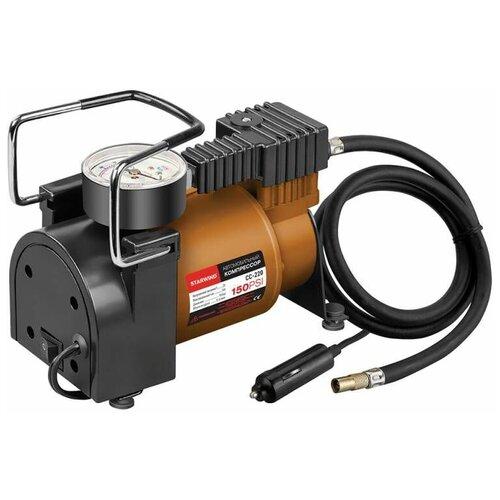 Автомобильный компрессор STARWIND CC-220 черный/бронзовый