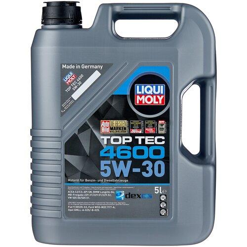 Полусинтетическое моторное масло LIQUI MOLY Top Tec 4600 5W-30 5 л моторное масло liqui moly top tec 4100 5w 40 sn cf a3 b4 c3 5 л нс синтетическое 7501