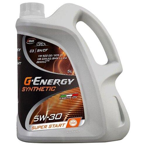 Фото - Синтетическое моторное масло G-Energy Super Start 5W-30, 5 л синтетическое моторное масло g energy synthetic super start 5w 30 4 л