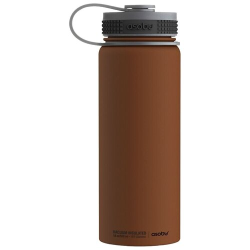 Термобутылка Asobu Alpine flask, 0.53 л шоколадный