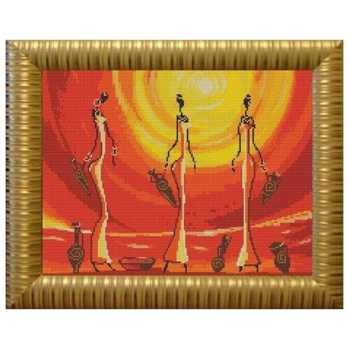 Купить Рисунок на ткани «Конёк» 9609 Африканки, 29x39 см, Наборы для вышивания