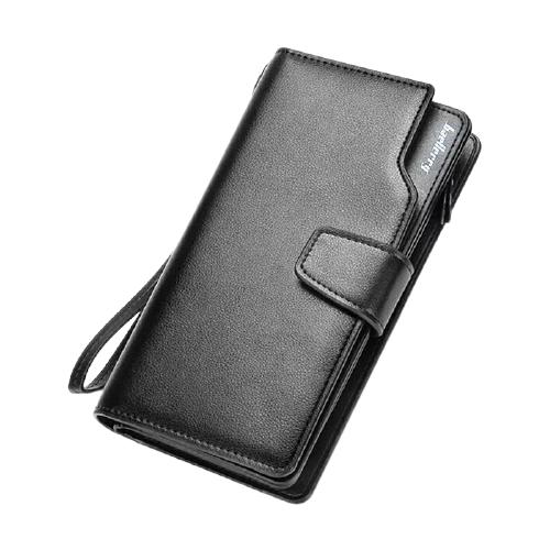 Портмоне мужское Baellerry Business/клатч мужской/мужское портмоне для документов/визитница для карт/кошелек мужской черный