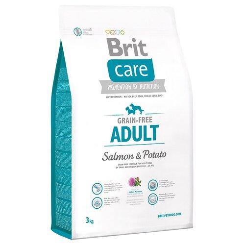Фото - Сухой корм для собак Brit Care беззерновой, лосось, с картофелем 2 шт. х 3 кг (для мелких и средних пород) сухой корм для щенков brit care лосось с картофелем 3 кг
