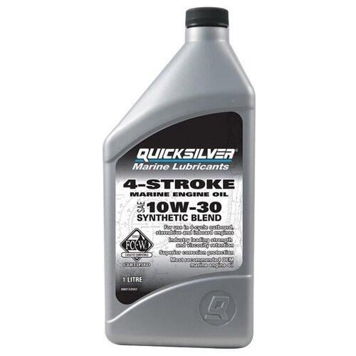 Минеральное моторное масло Quicksilver 4-Stroke Marine 10W-30, 1 л