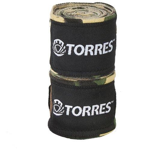 Бинты боксерские TORRES, 2.5 м x 5.0 см, хаки камуфляж (PRL62018CA)