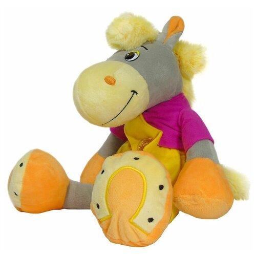 Мягкая игрушка лошадка плюшевая в штанишках 50 см