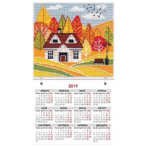 Овен набор для вышивания магнит-календарик Времена года. Осень 9.5 х 9.5 см (1114)