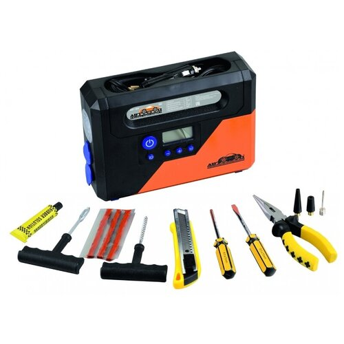 Автомобильный компрессор Автостоп AC-03 черный/оранжевый