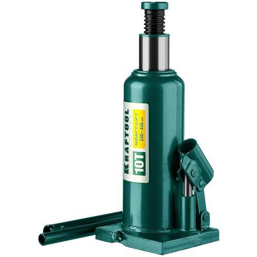 Домкрат бутылочный гидравлический Kraftool 43462-10_z01 (10 т) зеленый домкрат гидравлический бутылочный kraftool 10т kraft lift 43462 10 z01