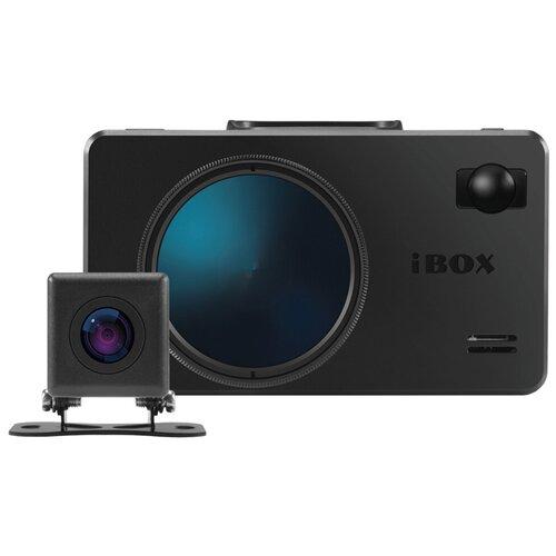 Видеорегистратор с радар-детектором iBOX iCON WiFi Signature Dual + камера заднего вида, 2 камеры, GPS, ГЛОНАСС, черный