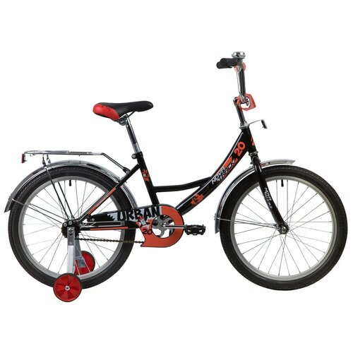 Фото - Детский велосипед Novatrack Urban 20 (2020) черный (требует финальной сборки) детский велосипед novatrack urban 16 2019 синий требует финальной сборки