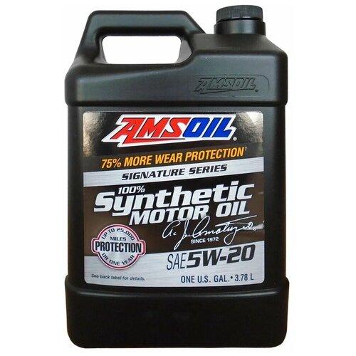 Фото - Синтетическое моторное масло AMSOIL Signature Series Synthetic Motor Oil 5W-20, 3.784 л синтетическое моторное масло amsoil synthetic 2 stroke injector oil 3 78 л