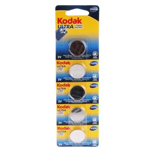 Фото - Батарейка Kodak Ultra Lithium CR2016, 5 шт. батарейка kodak 23a сигнализаций пультов игрушек электрошокеров