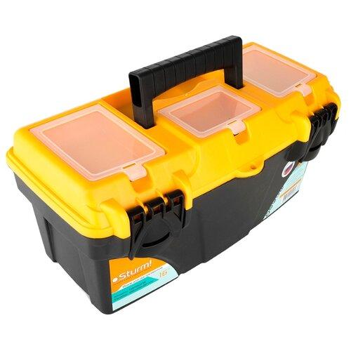 Ящик с органайзером Sturm! TBPROF16 41x21.5x19.7 см 16'' черный/желтый ящик с органайзером stanley mega line cantilever 1 92 911 49 5x26 1x26 5 см черный желтый