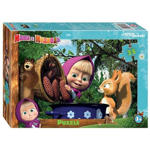 Купить Пазл Step puzzle Анимаккорд Маша и Медведь - 2 (91175), 35 дет., Пазлы