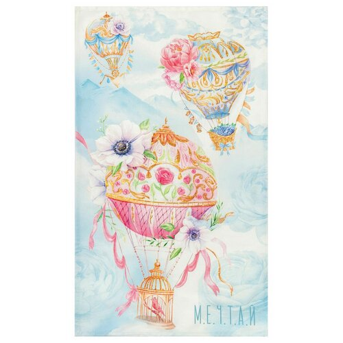 Фото - Этель полотенце Мечтай кухонное 40х73 см голубой/розовый полотенце кухонное мечтай 50x70 см da71231 daribo