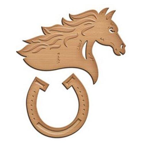 Нож для вырубки Spellbinders Удачливый конь (IN-054) 2 шт. коричневый