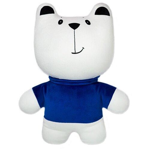 Игрушка-антистресс Штучки, к которым тянутся ручки Медведь в синей кофте 40 см