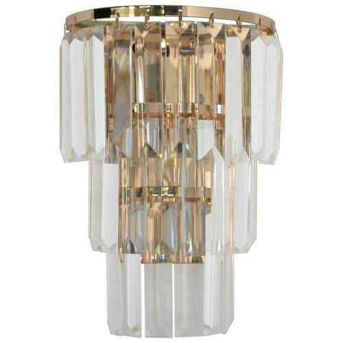 Настенный светильник MW-Light Аделард 642022701, E14, 60 Вт, кол-во ламп: 1 шт., цвет арматуры: золотой, цвет плафона: бесцветный настенный светильник mw light свеча 683022301 60 вт