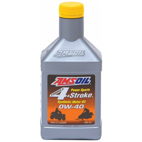 Фото - Моторное масло AMSOIL Formula 4-Stroke PowerSports Synthetic Motor Oil 0W-40, 0.946 л синтетическое моторное масло amsoil synthetic 2 stroke injector oil 3 78 л