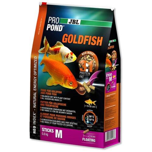 Фото - Сухой корм для рыб JBL ProPond Goldfish M, 6 л, 800 г сухой корм для рыб jbl novopleco 53 г