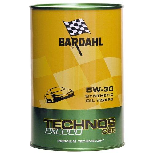 Синтетическое моторное масло Bardahl Technos C60 5W-30 Exceed, 1 л