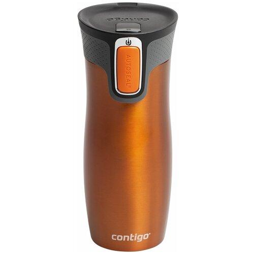 Термокружка Contigo West Loop, 0.47 л оранжевый