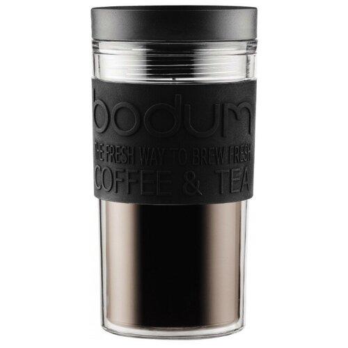 Термокружка Bodum Travel Mug, twist, 0.35 л черный
