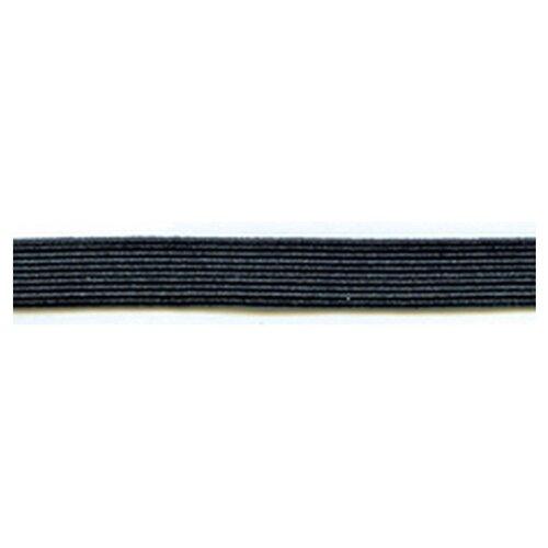 Купить Резинка продежка, 7, 9 мм, цвет черный 64% полиэстер, 36% латекс, PEGA, Технические ленты и тесьма