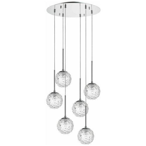 Светильник Lightstar Bari 815260, G9, 240 Вт, кол-во ламп: 6 шт., цвет арматуры: хром, цвет плафона: бесцветный