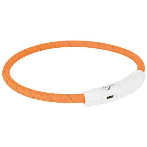 Фото - Ошейник TRIXIE USB Flash Light M-L 12691-12707 45 см оранжевый ошейник trixie usb flash s m 13070 13075 30 40 см зеленый