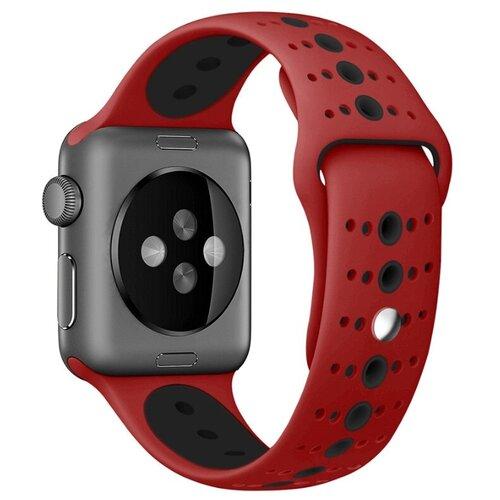 Сменный ремешок Nuobi Sport ver.3 для Apple Watch, Красный/черный 38/40 mm сменный ремешок nuobi для apple watch 38 40mm черный