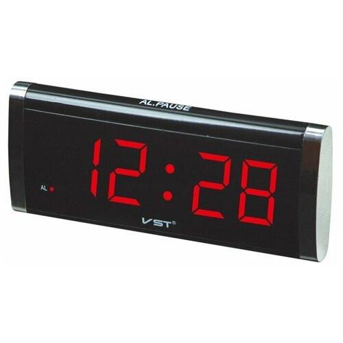 Часы настольные VST 730 черный/красный