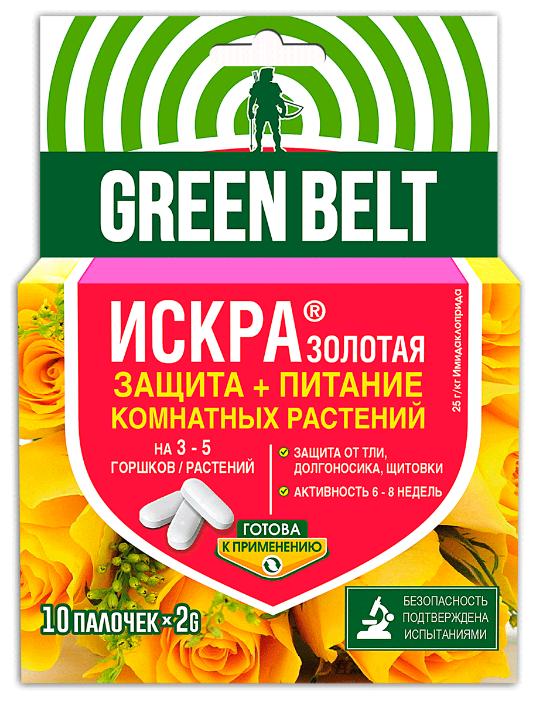 Green Belt Средство для защиты и питания комнатных растений Искра золотая, 20 г