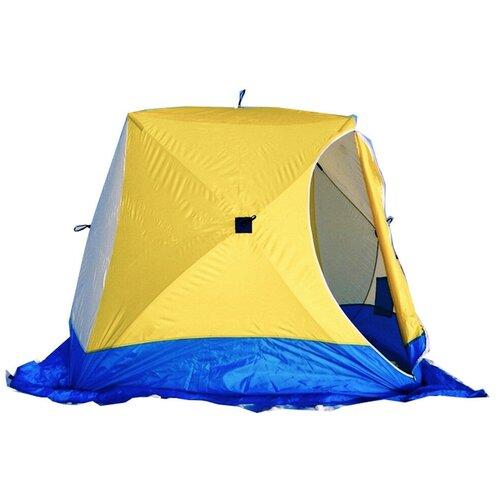 Фото - Палатка СТЭК Куб 3 белый/желтый/синий палатка jian hong замок принца 200280835 синий желтый