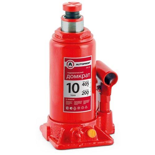 Фото - Домкрат бутылочный гидравлический AUTOPROFI DG-10 (10 т) красный аксессуары для автомобиля autoprofi домкрат бутылочный гидравлический 2 тонны dg 02k