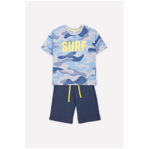 Фото - Комплект одежды crockid размер 98, серо-голубой меланж/синий космос халат crockid размер 98 серый меланж