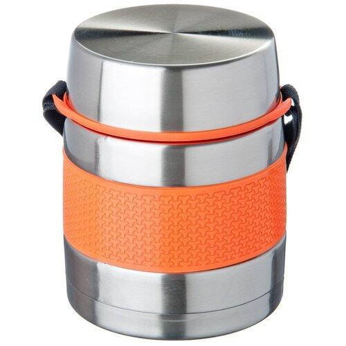 Термос для еды Satoshi Kitchenware Ямато 841629, 1 л серебристый/оранжевый