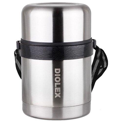 Термос для еды Diolex DXF-1000-1, 1л серебристый
