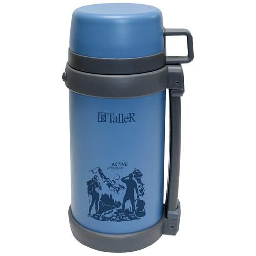 Классический термос Taller Форест, 1.2 л синий