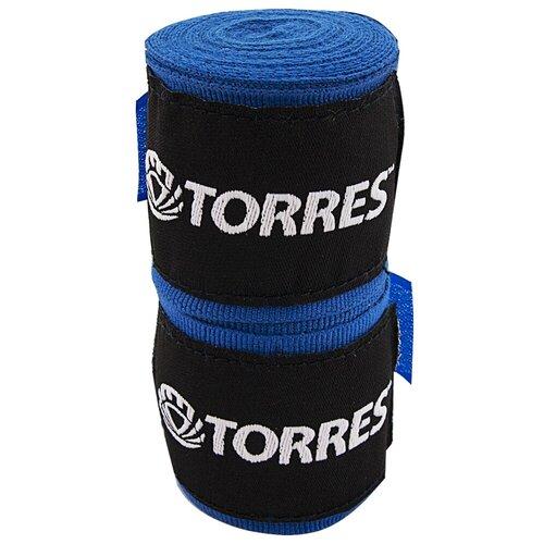 Бинты боксерские TORRES, 2.5 м x 5.0 см, синий (PRL62018BU)