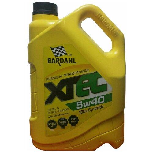 Синтетическое моторное масло Bardahl XTEC 5W-40, 5 л по цене 3 116